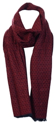 Alex & Turner Burgundy Knitted Scarf