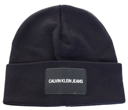 Calvin Klein Black Beauty Logo Beanie