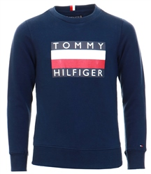 Navy Flag Badge Sweatshirt by Tommy Jeans