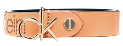 Calvin Klein Brown Leather Logo Belt