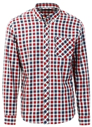 Ben Sherman Red Checked Long Sleeve Shirt