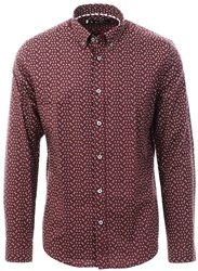 Ben Sherman Wine Micro Geo Shirt