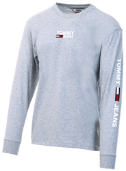 Hilfiger Denim Grey Badge Long Sleeve T-Shirt