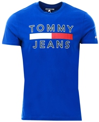 Blue Logo Short Sleeve T-Shirt by Tommy Jeans