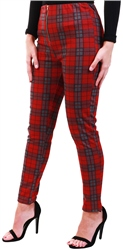 Missi Lond Red Tartan Check Trouser