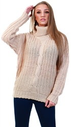 Qed Stone Chunky Knit Jumper