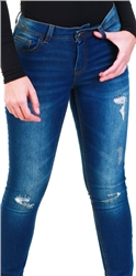Jdy Denim / Dark Wash Denim Flora Reg Skinny Fit Jeans