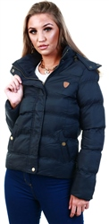Brave Soul Black Short Padded Jacket