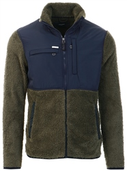 Jack & Jones Navy Colour Block Fleece Jacket