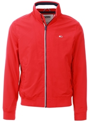 Tommy Jeans Red Essential Signature Zip Bomber Jacket