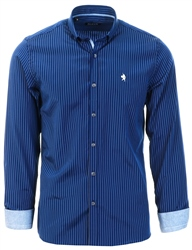 Navy Pinstripe Shirt by Alex & Turner