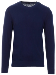 Selected Navy Daniel Crew Sweater