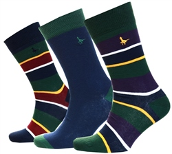 Jack Wills Multi Simpson 3 Pack Socks