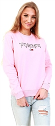 Tommy Jeans Pink Icing Essential Logo Sweatshirt