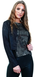 Only Black Suede Bolero Jacket