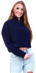 Brave Soul Navy Fleece