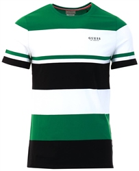 Guess Green/White Front Logo T-Shirts