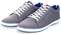 Hilfiger Denim Grey Canvas Lace Up Trainers