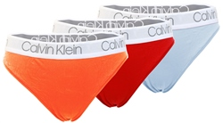 Orange / Red / Blue 3 High Leg Tangas by Calvin Klein