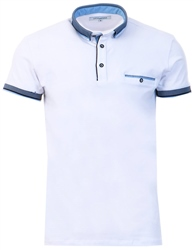 Ottomoda White Short Sleeve Polo Shirt