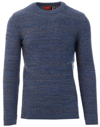 Superdry Diego Blue Twist Keystone Crew Jumper
