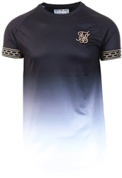 Siksilk Black & White S/S Fade Tech Tee