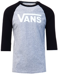 Vans Athletic Heather-Black-White Classic Raglan T-Shirt