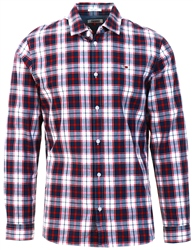 Tommy Jeans White Regular Fit Checked Shirt