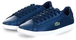 Lacoste Navy Graduate Leather And Synthetic Sneakers