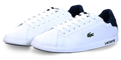 Lacoste White Graduate Leather And Synthetic Trainers