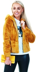 Jdy Harvest Gold Kiwi Faux Fur Jacket