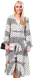 Lexie & Lola Cream/Black Spot Print Dress