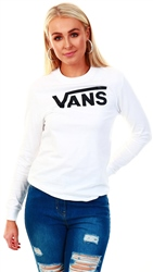 Vans White Flying V Long Sleeve T-Shirt
