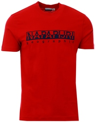 Napapijri Red T-Shirt Serber