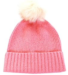 Pieces Rose Pink Wool Hat
