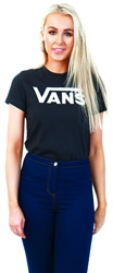 Black Flying V Crew T-Shirt by Vans