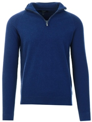 Threadbare Navy Half Zip Knit Jumper