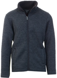 Kensington Charcoal Zip Up Fleece Jacket