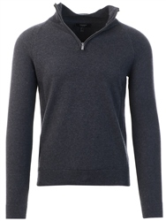 Threadbare Charcoal Half Zip Knit Jumper