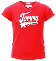 Tommy Jeans Racing Red 1985 Graphic Organic Cotton T-Shirt