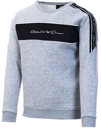 Kings Will Dream Grey / Black / White Noston Fleece Sweatshirt