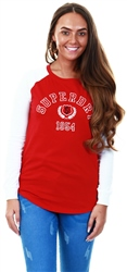 Superdry Chilli Pepper College Raglan Graphic Top