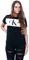 Calvin Klein Black Colour Block Logo T-Shirt