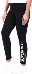 Superdry Black The Logo Legging