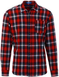 Jack & Jones Red Brick Brook Check Shirt
