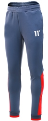 11degrees Ski Patrol Red Colour Block Skinny Fit Joggers