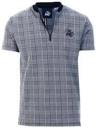 Kings Will Dream Grey Check Carbridge 1/4 Zip T-Shirt