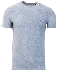 Guess Grey Triangle Logo Front Detail T-Shirt