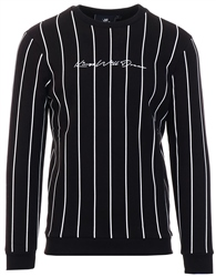 Kings Will Dream Black Clifton Pinstripe Sweatshirt