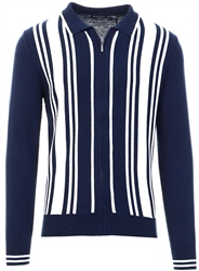 Brave Soul Navy Stripe Knit